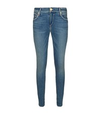 True Religion Casey Super T Contrast Stitch Skinny Jeans Female Blue