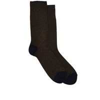 Barneys New York Mid Calf Socks Brown