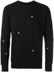 Obey Fly Print Sweatshirt Black