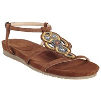 John Lewis Nula Bead Sandals Brown