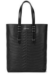 Alexander Mcqueen Black Ribcage Leather Tote