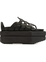Rick Owens Platform Gladiator Sandals Black