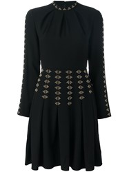 Valentino Studded A Line Dress Black