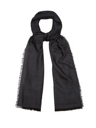 Dolce And Gabbana Crown Jacquard Scarf Black