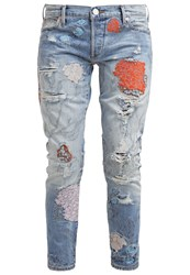 True Religion Liv Relaxed Fit Jeans Destroyed Denim