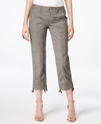 Inc International Concepts Cropped Cargo Pants Only At Macy's Sky Grey