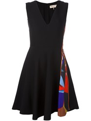 Emilio Pucci Zippered Fit And Flare Dress Black