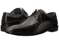 Stacy Adams Graziano Leather Sole Bike Toe Oxford Gray Men's Lace Up Casual Shoes