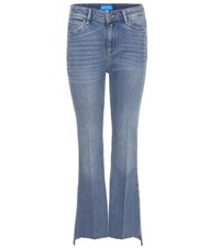 Mih Jeans The Stevie Cropped Flared Blue