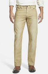Men's Big And Tall True Religion Brand Jeans 'Ricky' Relaxed Straight Leg Corduroy Pants Straw