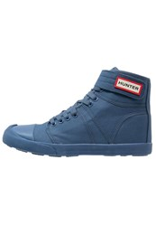 Hunter Hightop Trainers Tarp Blue