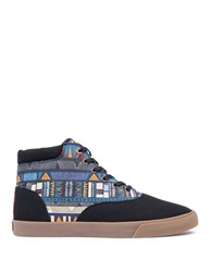 Bucketfeet Itzen Lace Up Mid Top Sneakers Black