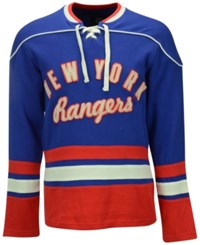 G3 Sports Men's New York Rangers Defenseman Lace Up Sweatshirt