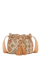 Katie Q Braids And Shades Bucket Bag Beige