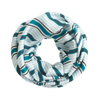 J.Crew Striped Silk Infinity Scarf Jade Multi
