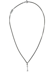 Saint Laurent Arrow Pendant Necklace Black