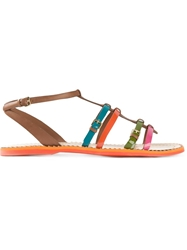 Car Shoe Buckled Strappy Sandals Multicolour