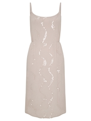 Ghost Embellished Dress Almond