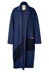 Roksanda Ilincic Larkin Wool Coat In Navy