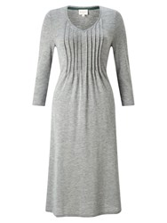 East Pintuck Flared Dress Greystone