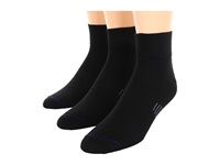 Wrightsock Ultra Thin Qtr 3 Pair Pack Black Quarter Length Socks Shoes