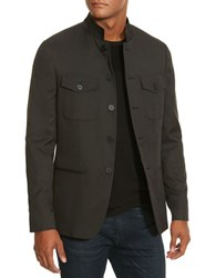 Kenneth Cole Five Button Military Blazer Black
