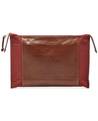 Fossil Men's Convertible Travel Pouch Red