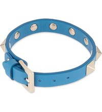Valentino Rockstud Small Leather Bracelet Light Blue