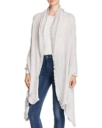 Bloomingdale's C By Cashmere Ruffle Wrap Cement