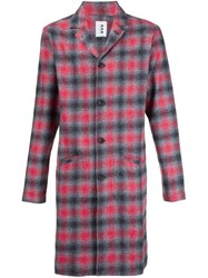 321 Plaid Coat Red
