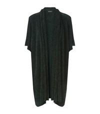 Eskandar Textured Silk Sleeveless Cardigan Female Black