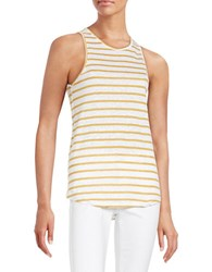 Sanctuary Striped Split Back Keyhole Top Yellow