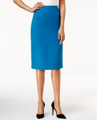 Kasper Pencil Skirt Teal