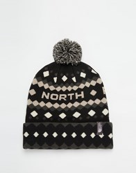 The North Face Ski Tuke Bobble Beanie Hat Black