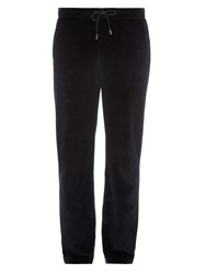 Versace Straight Leg Velour Trousers
