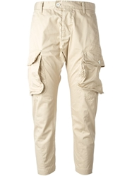 Dsquared2 Cargo Trousers Nude And Neutrals