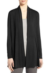 Eileen Fisher Women's Jersey Long Kimono Cardigan Black