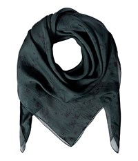 The Kooples Silk Chiffon Print Scarf Green