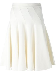 Ermanno Scervino Midi Pleated Skirt Nude And Neutrals