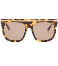 Stella Mccartney Falabella Chain Sunglasses Brown