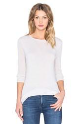 Autumn Cashmere Mesh Crew Neck Sweater Tan