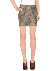 Guess Skirts Mini Skirts Women Khaki