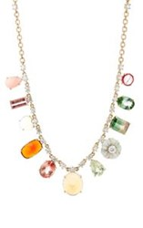 Irene Neuwirth Diamond Collection Women's Mixed Gemstone Charm Necklac Colorless