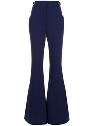 Proenza Schouler Flared Pants Blue