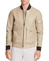 Theory Corby Lamb Leather Jacket Winter Sand Qix