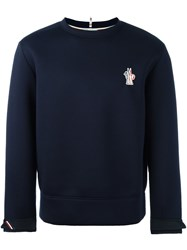 Moncler Grenoble Crew Neck Sweatshirt Blue