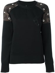Versus Camouflage Shoulders Sweatshirt Black