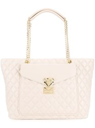 Love Moschino Quilted Shoulder Bag Nude And Neutrals
