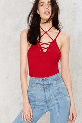 After Party Vintage Tie Another Day Tank Bodysuit