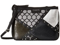 Nine West Glitter Mob Crossbody Black White Cross Body Handbags